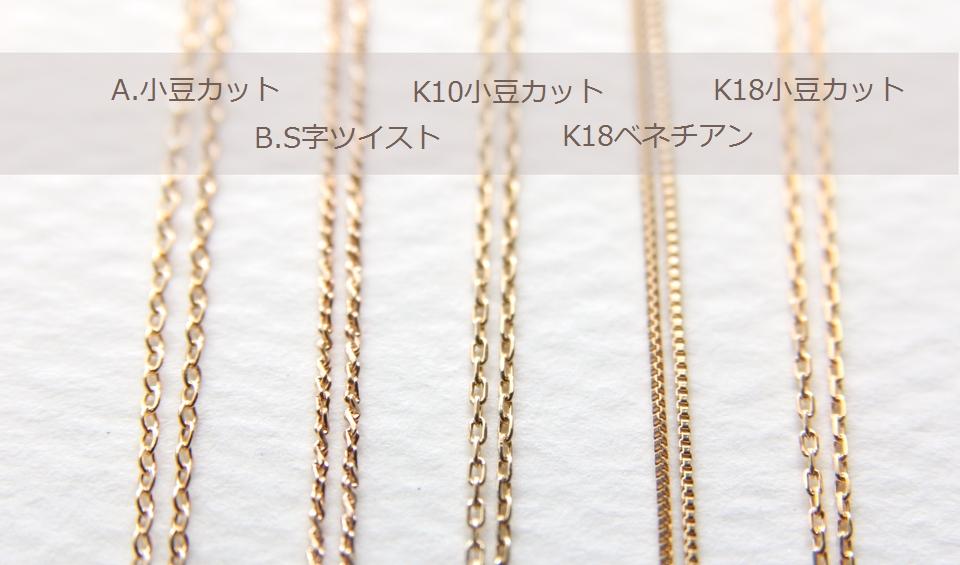 K14gfネックレスチェーン. K14gfチェーン2種類